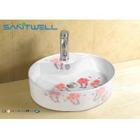 Buy cheap Solid surface counter Ceramic Art Basin mirror cabinet 520*425*135mm from wholesalers