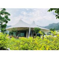 Buy cheap White Luxury Resort Tents , Double Pagoda UV Protection Fabric High Mountain Tent from wholesalers