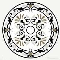 Buy cheap Multi Color Interior Marble Floor Medallions Luxury Looking Water Jet Cutting Stone Carving Sculpture from wholesalers