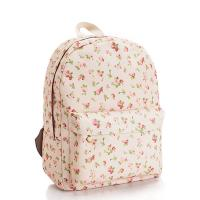 Buy cheap Many Pattern Flower Canvas Fabric Backpacks Fashion Bag for Girl from wholesalers