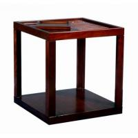 Rubber Wood  Square Side Coffee Table For Hotel Square End Table