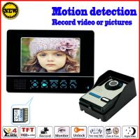 Buy cheap long distance robust anti-interference 4 wire 7 inch LCD screen color video door phone with memory from wholesalers