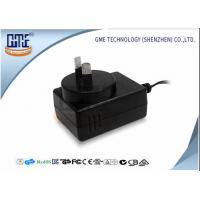 Buy cheap 1.25A Black Audio Wall Mount Power Adapter For Australia Low Ripple from wholesalers