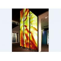 Buy cheap Handcrafted Decorative Glass Wall Panels / Partition , Colored Decorative Glass from wholesalers