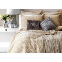 Buy cheap 100% Cotton Waves Embroidered Full Size Bed Sets Real Simple 4 Pcs For Home from wholesalers