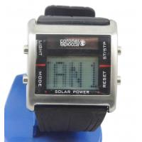 Buy cheap Hourly Chime PU Strap Solar Powered Digital Watches 12/24 Hours from wholesalers