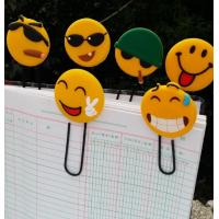 Buy cheap Funny Emoji Rubber PVC Bookmarks / 3d PVC Book Clips For Scenic Spot Promotional Gift from wholesalers