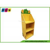 Multifunctional Shelf POP Cardboard Floor Displays Fixture With Metal Pegs On Sides FL038