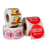 Buy cheap Custom Roll Safe Food Packaging Stickers / Strong Sticky Self Adhesive Stickers from wholesalers