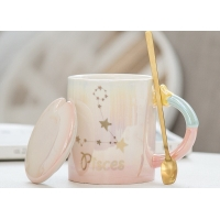 Buy cheap Zodiac 330ml 9.5cmx8cm Custom Ceramic Coffee Mugs product