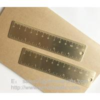 Buy cheap Brass Bookmark Ruler with graduation, mini brush brass ruler with engraved logo from wholesalers