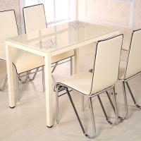Buy cheap Luxury Glass Dining Table And Chairs , Modern Home Decor Furniture from wholesalers