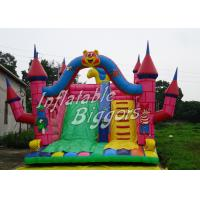 Buy cheap Safe CE Outdoor Inflatable Slip N Slide For Rent , Childrens / Adult Bouncy Castles from wholesalers