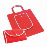 Buy cheap Promotional Foldable Nonwoven Shopping Bag with Self Packaging and Plastic Button Closure product