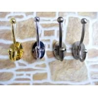 Buy cheap Decorative wall mounting double metal hooks for clothes hanger, zinc alloy metal hook from wholesalers