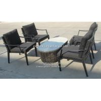 Buy cheap 4 +1rope round coffee table  with aluminum frame for Home. Hotel, Garden and Beach by Clover Lifestyle Outdoor Furniture from wholesalers