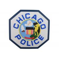 Buy cheap Custom Chicago Police 2D PVC Coaster, Custom Drink Coasters For Beverage, Beer from wholesalers