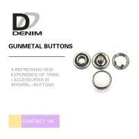 Buy cheap 10mm Gunmetal Pearl Snap Buttons Metal Decorative For Jeans Parts from wholesalers