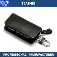 Buy cheap Personalised Zippered Leather Key Holder Keychain Pouch Wallet For Car Remote Control from wholesalers