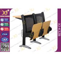 China College Steel Back Aluminium Station School Desk And Chair With Patent Seat on sale