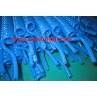 Buy cheap TPU Recoil air hose tube with NPT  fitting for compressed air system,blue color, yellow color from wholesalers