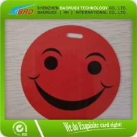 Buy cheap brand laminating pouch Smiley luggage tag from wholesalers