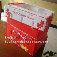 Buy cheap Custom printing corrugated packaging boxes plastic vegetables fruit box from wholesalers