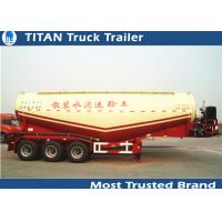 Buy cheap Reinforced steel Cement semi Trailer for dry bulk powder material transportation from wholesalers