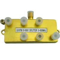 Buy cheap U/V/FM 8-way TV splitter 5-900MHz gold plated from wholesalers