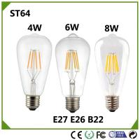 Buy cheap Dimmable 4W 6W 8W E27 LED ST64 Filament  Bulb light Vintage Glass lamp home lighting Warm white/Nature white 110V/ 230V from wholesalers