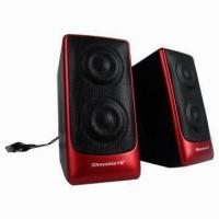 Buy cheap Desktop Hi-fi USB 2.0 Portable Speakers with 4Ω Impedance product