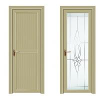 Buy cheap Swing Anodized Aluminium Casement Door Tempered Glass Wood Grain from wholesalers
