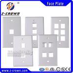 Buy cheap RJ45 Cat5e/ Cat6 Network Face Plate US Type 1port 2port 3port 4port from wholesalers