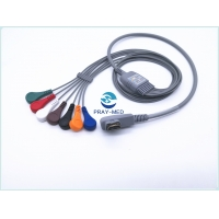 Buy cheap DMS HDMI TPU 1.1m 7 Lead Ecg Cable DMS300-4A DMS300-3A from wholesalers