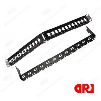 Buy cheap Black FTP 24 port bend Rj45 cat5e / cat6 Patch Panel Rack Mounted from wholesalers
