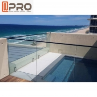Buy cheap Outdoor Stainless Steel Frameless Aluminum Handrail With Glass from wholesalers