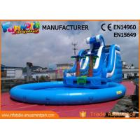 Buy cheap Waterslides Giant Blue Outdoor Inflatable Water Slides For Amusement Park from wholesalers