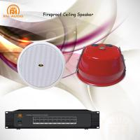 Buy cheap RH-AUDIO Professional Fireproof Ceiling Speaker with Red Metal Cover for Voice Evacuation System from wholesalers