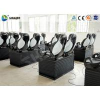 Buy cheap Black Luxury Seats 7D Movie Theater Genuine Leather Fiberglass Interactive Games product