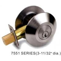 Buy cheap Forged brass Commercial Deadbolt lock 7500 series (ANSI Grade 2) from wholesalers