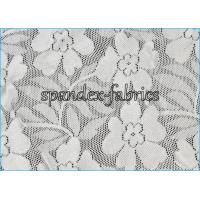 Buy cheap Flower Pattern Nylon Spandex Wedding Dress Stretch Lace Fabric 140gsm from wholesalers