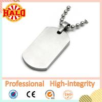 Buy cheap High-quality stainless steel blank dog tag with ballchain from wholesalers