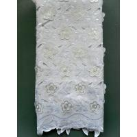 Buy cheap African Double Organza Applique Laces With Sequence For wedding from wholesalers