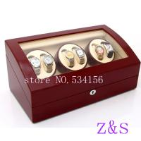 Buy cheap 6+7 automatic wooden watch winder  r box watch case storage display watch box red color from wholesalers