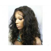 China Density 150% Human Hair Front Lace Wigs Kinky Curly With Baby Hair on sale