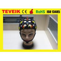 Buy cheap Medical Silver Chloride EEG Electrode Cap 20 Lead, Reusable Black EEG Hat from wholesalers
