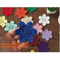 Buy cheap Handmade Crochet Flowers DIY Clothing accessories Cotton material Colorful decorative from wholesalers