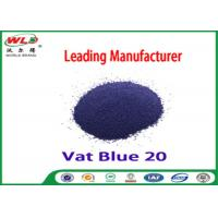 Buy cheap C I Vat Blue 20 Dark Blue Bo Dyeing Of Cotton With Vat Dyes AAA Credit from wholesalers