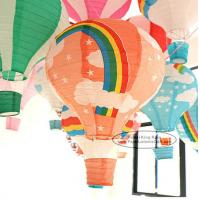 Buy cheap 14 Inch 16 Inch Rainbow Hot Air Balloon Paper Lantern For Party Lamp from wholesalers