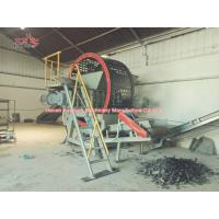 Buy cheap Mobile Tire Shredding Machine Wear Resistance ,Twin Shaft Waste Tyre Shredder from wholesalers